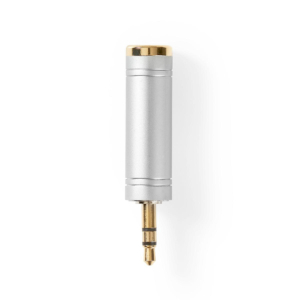 Stereo Adapter   3.5 mm Male to 6.35 Female   Metal