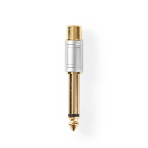 Audio Adapter   6.35 mm Male to RCA Female