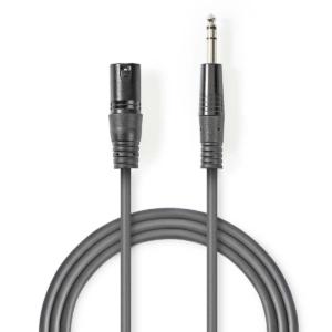 Balanced XLR Audio Cable   XLR 3-Pin Male - 6.35 mm Male   3.0 m