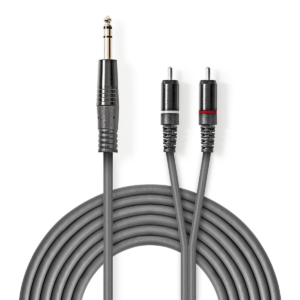 Stereo Audio Cable   6.35 mm Male - 2x RCA Male